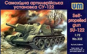 Unimodels SU122 WWII Soviet Self-Propelled Gun Plastic Model Tank Kit 1/72 Scale #332