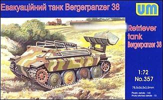 UniModels — Tank carrier car with Pz.Kpfw 38 — Plastic model kit 1:72 Scale #259