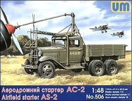 Unimodels AS2 Airfield Starter on GAZ-AAA Truck Chassis Plastic Model Military Truck Kit 1/48 #506