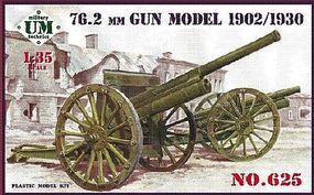Unimodels 76.2mm Gun Model 1902/1930 Plastic Model Weapon Kit 1/35 Scale #625