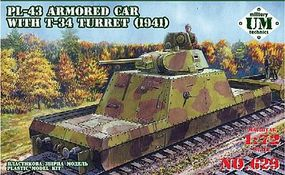Unimodels PL43 Armored Car w/T34 Turret 1941 Plastic Model Military Vehicle Kit 1/72 Scale #629