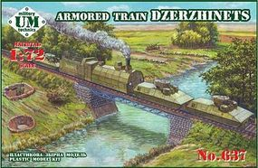 Unimodels Dzerzhinets Armored Train Plastic Model Military Vehicle Kit 1/72 Scale #637