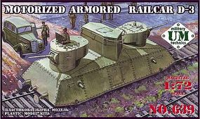 Unimodels D3 Armored Railcar Plastic Model Military Vehicle Kit 1/72 Scale #639