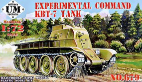 Unimodels 1/72 KBT7 Experimental Command Tank (New Tool)