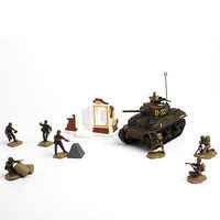 Unimax M4A1 SHERMAN W/figs Diecast Military Model Trucks, Planes, Tank 1/72 Scale #85091