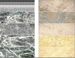 Uschi Multi-Scale Black/Beige Marble Decals (D)