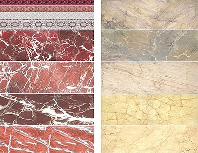 Uschi Multi-Scale Red/Beige Marble Decals (D)