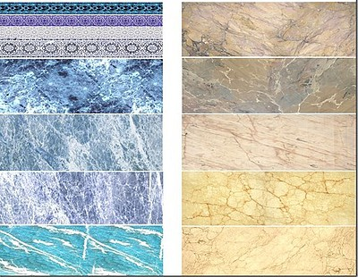 Uschi Multi-Scale Blue/Beige Marble Decals (D)