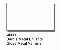 Vallejo 60ml Bottle Gloss Metal Varnish Hobby and Model Acrylic Paint #26657