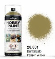 Vallejo AFV Color Panzer Yellow Spray Hobby and Model Enamel Paint #28001