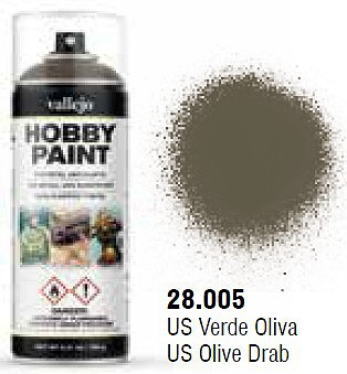 Vallejo AFV Color US Olive Drab Spray