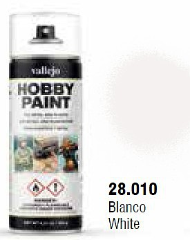 Vallejo White Basic Primer 400ml Spray