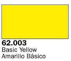 Vallejo Basic Yellow Premium (60ml Bottle) Hobby and Model Acrylic Paint #62003