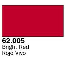 Vallejo 60ml Bottle Bright Red Premium Hobby and Model Acrylic Paint #62005