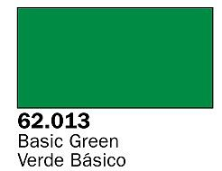 Vallejo Basic Green Premium (60ml Bottle) Hobby and Model Acrylic Paint #62013