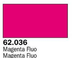Vallejo Fluorescent Magenta Premium (60ml Bottle) Hobby and Model Acrylic Paint #62036