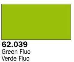 Vallejo Fluorescent Green Premium (60ml Bottle) Hobby and Model Acrylic Paint #62039