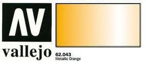 Vallejo Metallic Orange Premium (60ml Bottle) Hobby and Model Acrylic Paint #62043