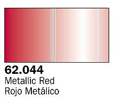 Vallejo Metallic Red Premium (60ml Bottle) Hobby and Model Acrylic Paint #62044