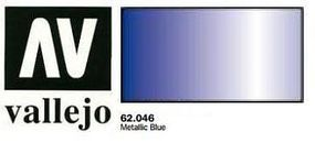 Vallejo Metallic Blue Premium (60ml Bottle) Hobby and Model Acrylic Paint #62046