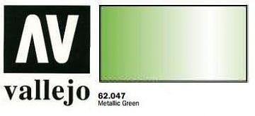 Vallejo Metallic Green Premium (60ml Bottle) Hobby and Model Acrylic Paint #62047