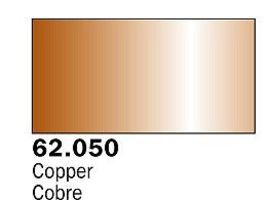 Vallejo Metallic Copper Premium (60ml Bottle) Hobby and Model Acrylic Paint #62050