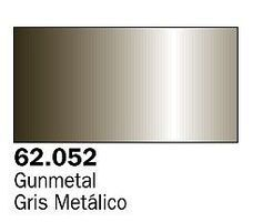 Vallejo Metallic Gunmetal Premium (60ml Bottle) Hobby and Model Acrylic Paint #62052