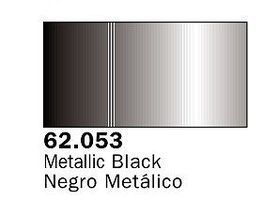 Vallejo Metallic Black Premium (60ml Bottle) Hobby and Model Acrylic Paint #62053