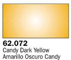 Vallejo Candy Dark Yellow Premium (60ml Bottle) Hobby and Model Acrylic Paint #62072