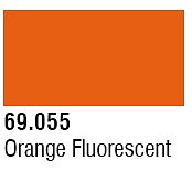 Vallejo Acrylic Paints 17ml Bottle Orange Fluorescent Mecha Color (6/Bx)