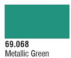 Vallejo (bulk of 6) Metalic Green 17ml 6p