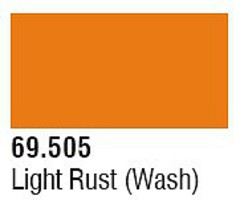 Vallejo (bulk of 6) Light Rust Wash 17ml 6p