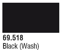 Vallejo (bulk of 6) Black Wash 17ml 6p