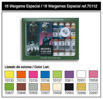 Vallejo 17ml Bottle Wargame Special Model Color Paint Set (16 Colors) Hobby and Model Paint Set #70112