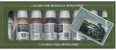 Vallejo Demag Russia 1942 Model Color Paint Set (8 Colors) Hobby and Model Paint Sets #70139