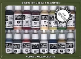 Vallejo NATIVE AMERICAN COLORS SET (16 Colors) Hobby and Model Paint Set #70145