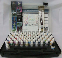 Vallejo BASIC MODEL COLOR COMBO SET (72 Colors & Brushes) Hobby and Model Paint Set #70175
