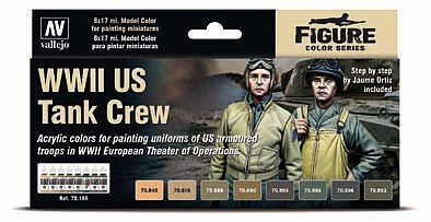Vallejo WWII US Tank Crew Model Color Set