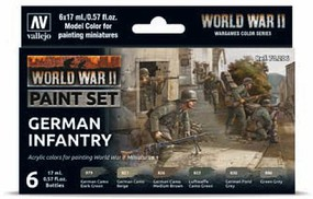 Vallejo German Infantry Paint Set