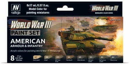 Vallejo WWIII American Armour + Infantry Set