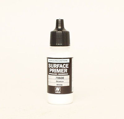 Vallejo WHITE SURFACE PRIMER 17ml Hobby and Model Acrylic Paint #70600