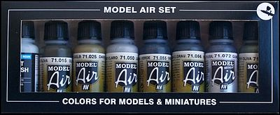 Vallejo Demag Africa Corps Model Air Paint Set (8 Colors) Hobby and Model Paint Set #71150