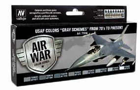 Vallejo 17ml Bottle USAF Colors Gray Schemes from 70s to Present Model Air Paint Set (8 Colors)