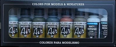 Vallejo RLM I Model Air Paint Set (8 Colors) Hobby and Model Paint Set #71165