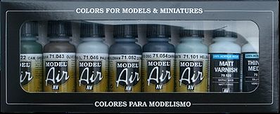 Vallejo RLM II Model Air Paint Set (8 Colors) Hobby and Model Paint Set #71166