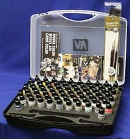 Model Air Paint Set in Plastic Storage Case (72 Colors & Brushes) Hobby and Model Paint #71170