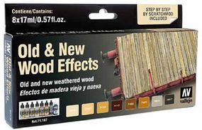 Vallejo Old & New Wood Effects Paint Set Hobby and Model Paint #71187