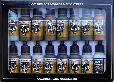 Vallejo RLM Model Air Paint Set (16 Colors) Hobby and Model Paint Set #71193