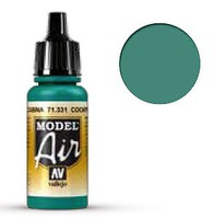 Vallejo 17ml Bottle Cockpit Emerald Green Faded Model Air (6/Bx)