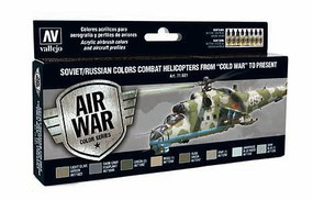 Vallejo 17ml Bottle Soviet/Russian Colors Combat Helicopter from Cold War to Present Model Air Paint Set (8 Colors)